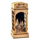 groothandel Windlichten & lantaarns: Kerstdecoratie lantaarn met LED h = 32,5cm b = 15c
