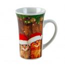 nagyker Háztartás és konyha: Bögre karácsonyi macskák h = 14cm d = 9cm