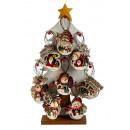 nagyker Dekoráció: Karácsonyi faszobák lógni h = 8-9,5cm (80 db