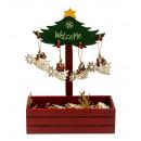 Figurines de Noël en bois à suspendre 9x6,5cm (72