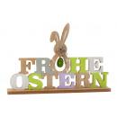 Schriftzug Frohe Ostern h=20cm b=30cm aus Holz