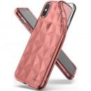 Ringke Iphone Etui X / XS Air Prism, różowe złoto