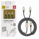 Câble Baseus Type-C Rapid 2-en-1 pour Micro + Ligh