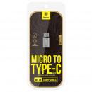 Konwerter Baseus Sharp Micro USB na Type-C Sky Gra