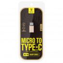 Konwerter Baseus Sharp Micro USB na typ C Champag