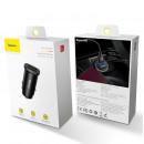 wholesale Car accessories: Baseus Car Charger Square metal A + A 30W Dual QC3