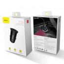 Baseus Car Charger Circular Plastic A+A Dual Quick