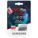 Karta Samsung MicroSD EVO + 256 GB Class10 + Adapt