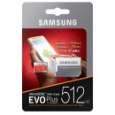Carte MicroSD Samsung EVO + 512 Go Class10 + Adapt