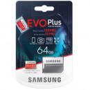 Karta microSD Samsung EVO + 64 GB Class10 + Adapte