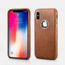 iCarer Iphone XS Case Origineel Echt Leer Bro