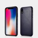 iCarer Iphone XR Case Origineel echt leer Blu