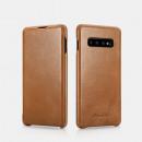 iCarer Samsung S10 Case Curved Edge Vintage Seria