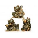 nagyker Játékok: Szél könnyű béka porcelán, 15 cm