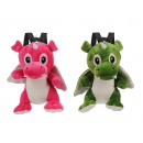 wholesale Toys: Backpack dragon made of plush, 30 cm