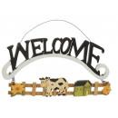 Decoratie 'Welcome' gemaakt van hout, 30 c