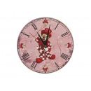 Wooden wall clock 'Clown', 24 cm