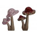 wholesale Garden & DIY store: Planting plug mushroom made of porcelain, 20 cm