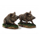 Wild boar made of poly, 16 cm