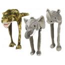 Czapka nosorożca, słonia i krokodyla plusz, 55