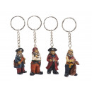 Pirate of poly with key pendant, 5 cm