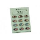 wholesale Drugstore & Beauty: Pillendose oval colored 6 x 3,5 cm