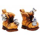 Großhandel Geschenkartikel & Papeterie: Spardose Schuh aus Keramik, 17 cm