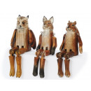 Edge stool Animals from solid wood, 21 cm
