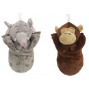wholesale Sports & Leisure: Elephant and monkey in a sleeping bag, 32 cm