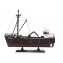 Vissersboot Krabbenkutter van hout, 35 cm