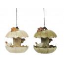 groothandel Tuin & Doe het zelf: Vogeltränke porselein, 19 cm