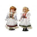 Großhandel Spielwaren: Puppe mit Porzellankopf, 40 cm