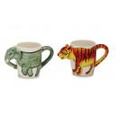Cup of porcelain Wild animal design, 10 cm
