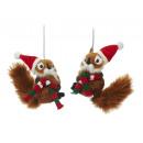 Scoiattolo con tappo di Natale, 11 centimetri
