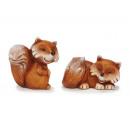 Fuchs kerámiából, 13 cm