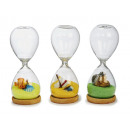 wholesale Gifts & Stationery: Hourglass made of glass, 15 cm