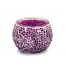 Lantern with purple mosaic pebbles, 8 x 10 cm Ø