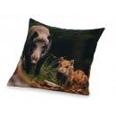 Großhandel Kissen & Decken: Kissen Wildschwein-Design 40 x 40 cm