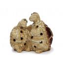 Wind light turtle made of porcelain, 13 cm