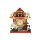 grossiste Maison et habitat: Horloge avec Edelweiss Poly, 16 cm