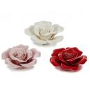 Fleurs en porcelaine, 8 cm Ø