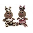 groothandel Speelgoed: Gebreide konijn, 2 maal geassorteerd , 40 cm