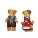 Orso peluche in stile country, 22 cm
