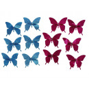 Butterfly made of plastic with clip, 9 cm