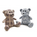 Bear knitted with hangers, 35 cm