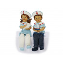 Marynarze dzieci Kantenhocker poli, 19 cm