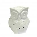 Classic White Oil Burner - Tall Owl