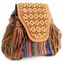 Großhandel Handtaschen: Venezianisch - Hellbraun Stripy mit Fransen