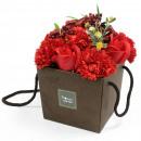 wholesale Shower & Bath: Soap Flower Bouqet - Red Rose & Carnation