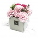 wholesale Shower & Bath: Soap Flower Bouqet - Pink Rose & Carnation